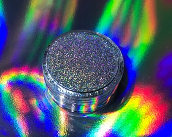 Biodegradable Silver Holographic Glitter
