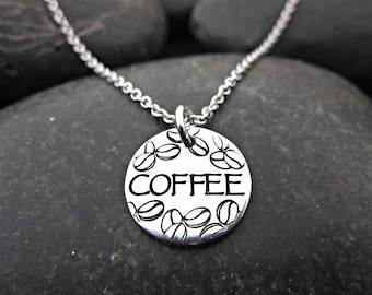 Coffee Necklace - Coffeholic - Coffee Lover