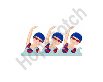 Synchronized Swimming - Machine Embroidery Design