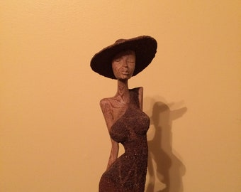 Amazing and Stylish Uptown Lady Wood Carving