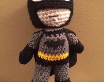 Ready to ship Batman Inspired Amigurumi Doll