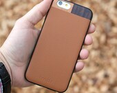 iPhone 6 Plus Leather Case, iPhone 6s Plus Case with Tan Leather - LTR-TN-I6P