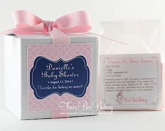 LITTLE PREPPY ...One Dozen (12) Personalized Cupcake Mix Baby Shower, Baby Sprinkle, Birthday, Christening, Baptism Bridal Shower Favors