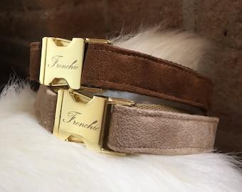 "Adjustable dog collar ""Suede"""