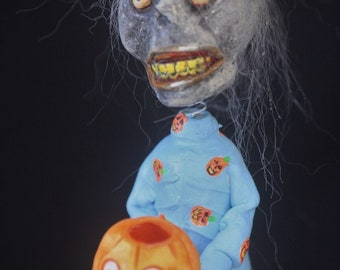 Scary Ghoul Candy Container Bobble Head