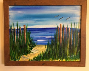 Beach Walk - Original Acrylic Artwork 11x14