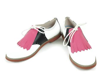 Pink Kilties for Womens Golf Shoes, Saddle Shoes, Lindy Hop Shoes, Golf Gifts for Women, Gifts for Golfers, Lindy Hop Gifts Shoe Accessories