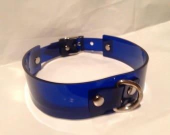 Blue D Ring PVC Collar