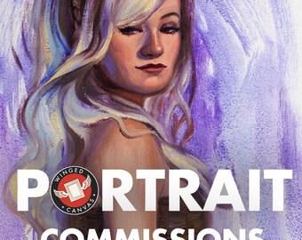 Portrait Commission. Custom Portrait Art. Caricature Painting. Painting Gift