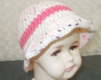 Handmade crochet summer soft baby hats