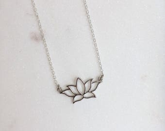 Lotus Flower Necklace, Lotus Necklace, Lotus Jewellery, Lotus Flower Jewellery