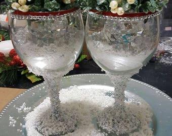 Two glass arrangements