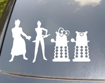 LGBT Doctor Who Family of 4 Car Sticker