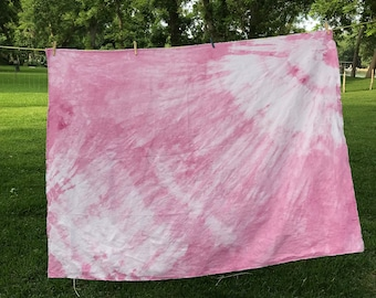 Cochineal Hand Dyed 100% Linen Throw Blanket