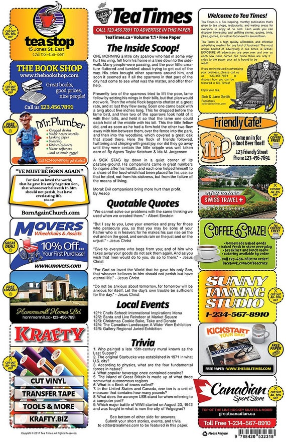 2 Page Newspaper Template Adobe Illustrator 11x17 Inch