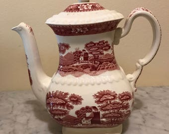 Vintage Spode Pink Tower - Coffee Server, Coffee Pot
