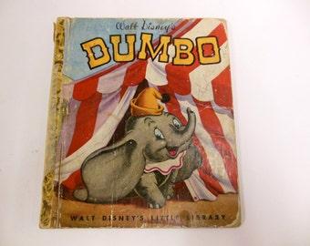 Dumbo Walt Disney's Little Library Vintage Children's Scrapbooking Pictures 1940's