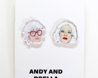 Andy and Drella Earrings