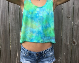 Ice tie dyed tank top