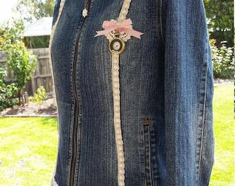 Embellished OOAK  Denim Jacket
