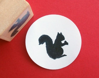 Little Squirrel Rubber Stamp  - Handmade rubber stamps by Blossom Stamps