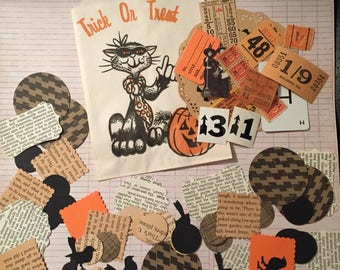 71pc Halloween ephemera paper pack