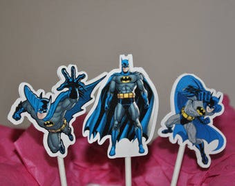 Batman Cupcake Toppers set of 12