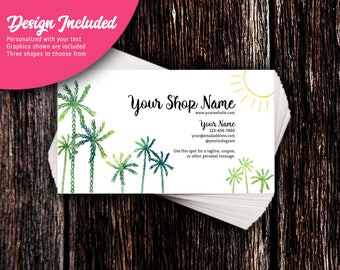 Business Cards | Custom Personalized Business Cards | Mommy Calling Cards | Social Media Cards | Palms & Sunshine