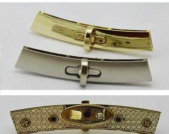 10sets  89*46mm  Fashion longer edge protect bar metal twist turn lock, arch decoration  edge bar protection switch lock  wholesale  ks-784