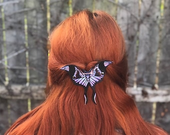 Stained Glass Art Nouveau Hair Clip - French Barrette
