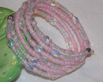 Pink Lemonade Summer Wrap Bracelet
