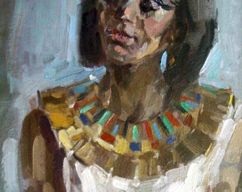 Eolka, Realestichesky portrait, Egyptian, beautiful image of the girl.
