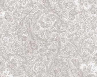 100% cotton, fabric, extra wide, grey, paisley, quilt, quilt backing, quilt fabric, sewing
