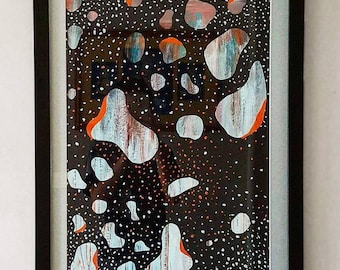 Spaced Out - Acrylic paint on paper