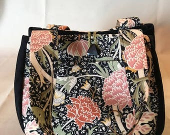 """William Morris print """"Individually hand crafted bags"""""""