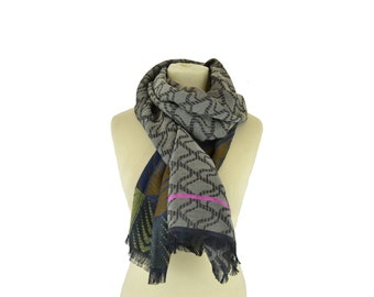 Nuage Wax brass - Woman's scarf - La Tribu des Oiseaux