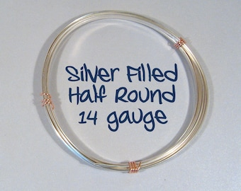 14ga HR DS Half Round Silver Filled Wire - Choose Your Length
