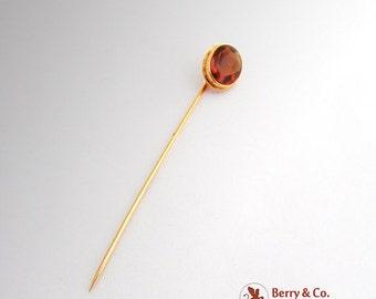 SaLe! sALe! Vintage Oval Citrine 14 K Gold Stick Pin