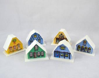 Vintage Alpine Village Miniature Christmas Light Covers