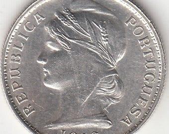 Portugal, 20 centavos de 1916 silver coin