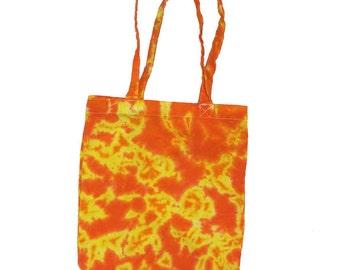 Tie Dye Tote Bag - Yellow Orange