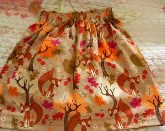 Girl's Autumn Foxy Skirt Handmade