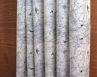 SALE ⋘ Curtains, Window Treatments, Curtain Panels 24W or 50W x 63, 84, 90, 96 or 108L Air Traffic Collection, 3 Colors