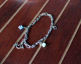 Peace Dove Multi-Chain Charm Bracelet
