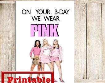 Printable Mean Girls Card