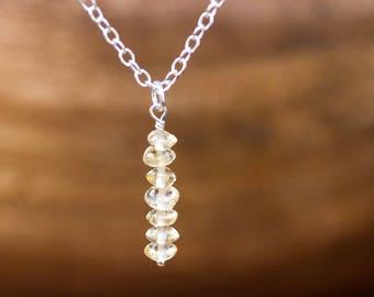 Raw Citrine Necklace - November Birthstone Jewelry - Scorpio Gift for Her - Raw Citrine Pendant - Raw Crystal Necklace