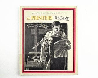 Colonial American Craftsmen Printers Book, 1965 Letterpress Printing