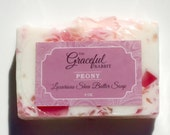 PEONY GLYCERIN SOAP | Shea Butter | Mango Butter | Cocoa Butter | The Graceful Rabbit