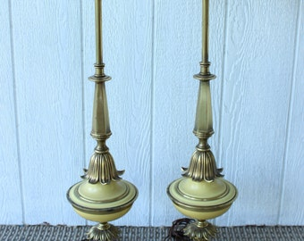 torchiere stiffel Hollywood Regency Antique Vintage Brass Metal Electric Floor Lamp Milk Glass Lamp Shade