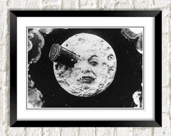 TRIP To The MOON POSTER: Vintage Silent Film Artwork